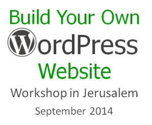 Build Your Own WordPress Website – Jerusalem Workshop
